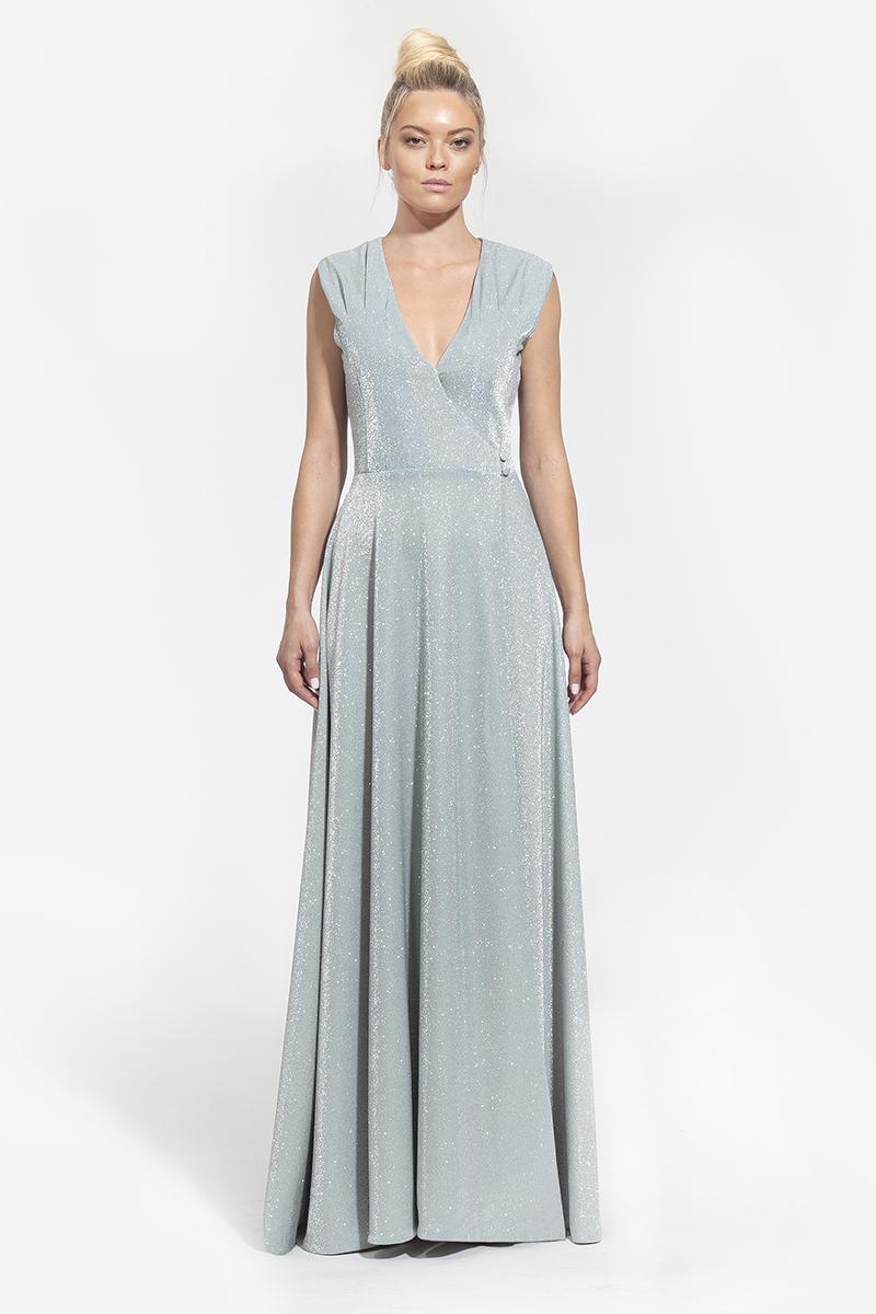 11-1006-κρουαζε maxi φόρεμα με πιέτες στο μπούστο σε χρώμα μέντας - και πούδρα- 399 (1)