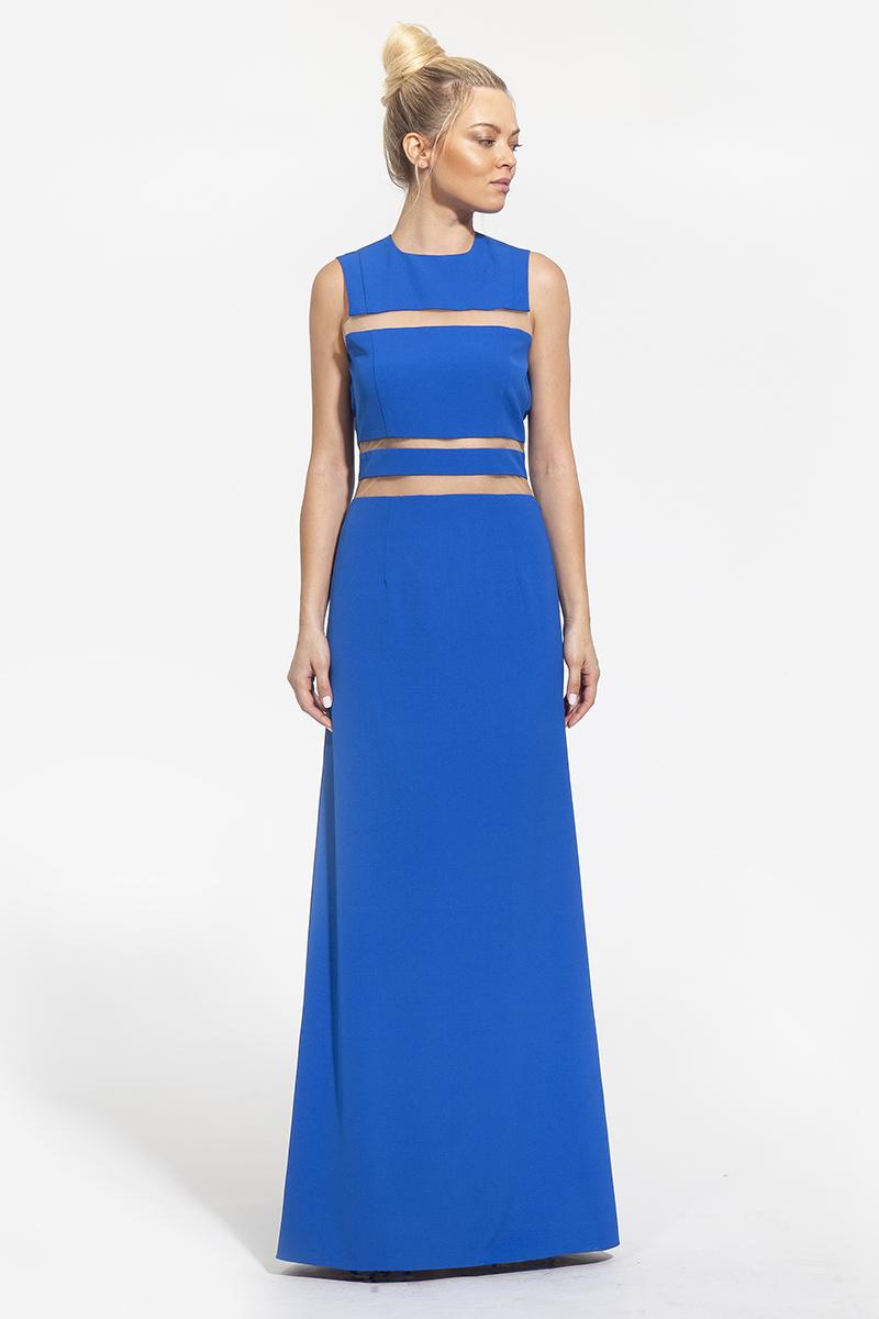 13 - 2002 - φόρεμα με διαφάνειες και άνοιγμα στην πλάτη σε χρώμα μπλε- 351 (1)