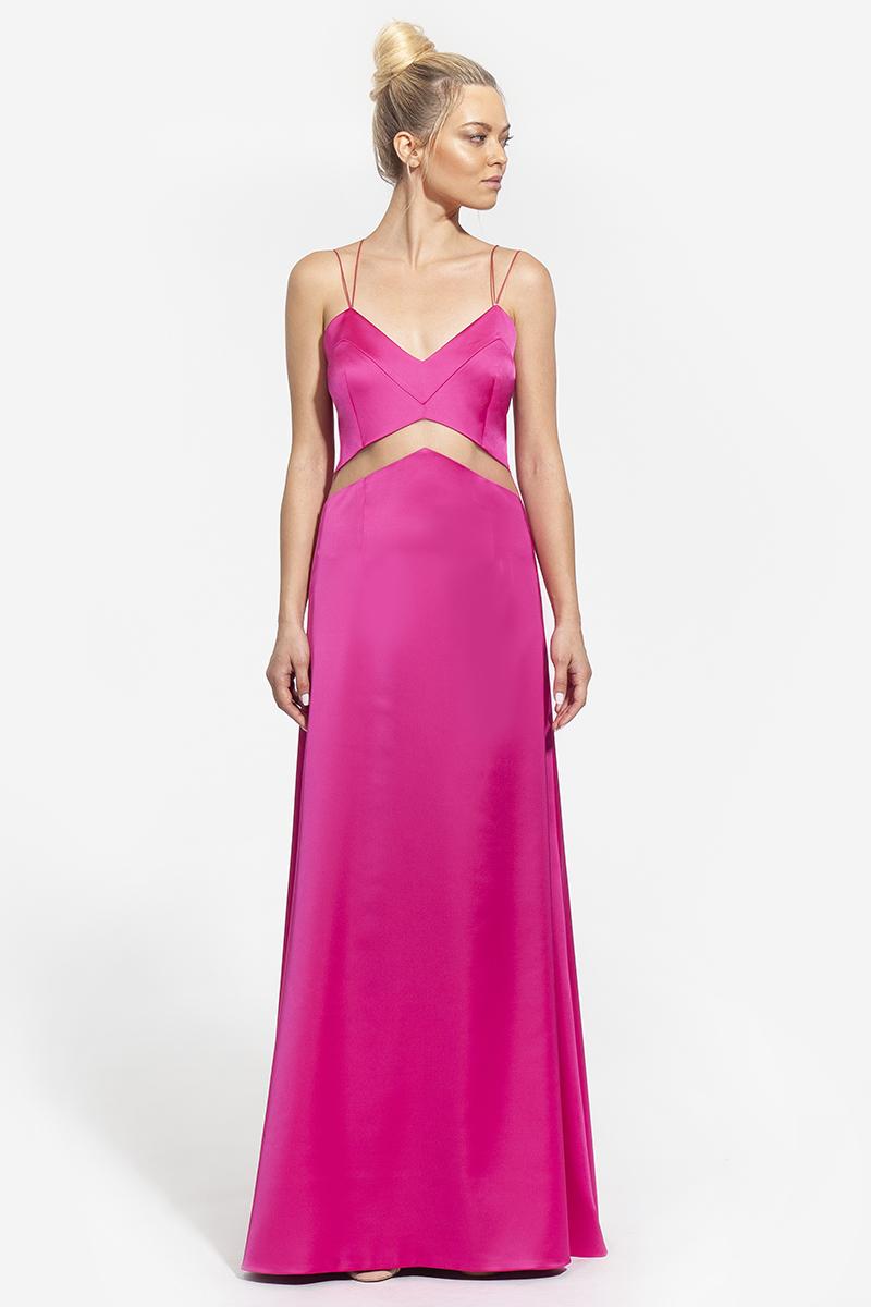 16- 4003- lingeries φόρεμα με διαφάνεια στο κέντρο σε φούξια και μπλε - 393 (1)