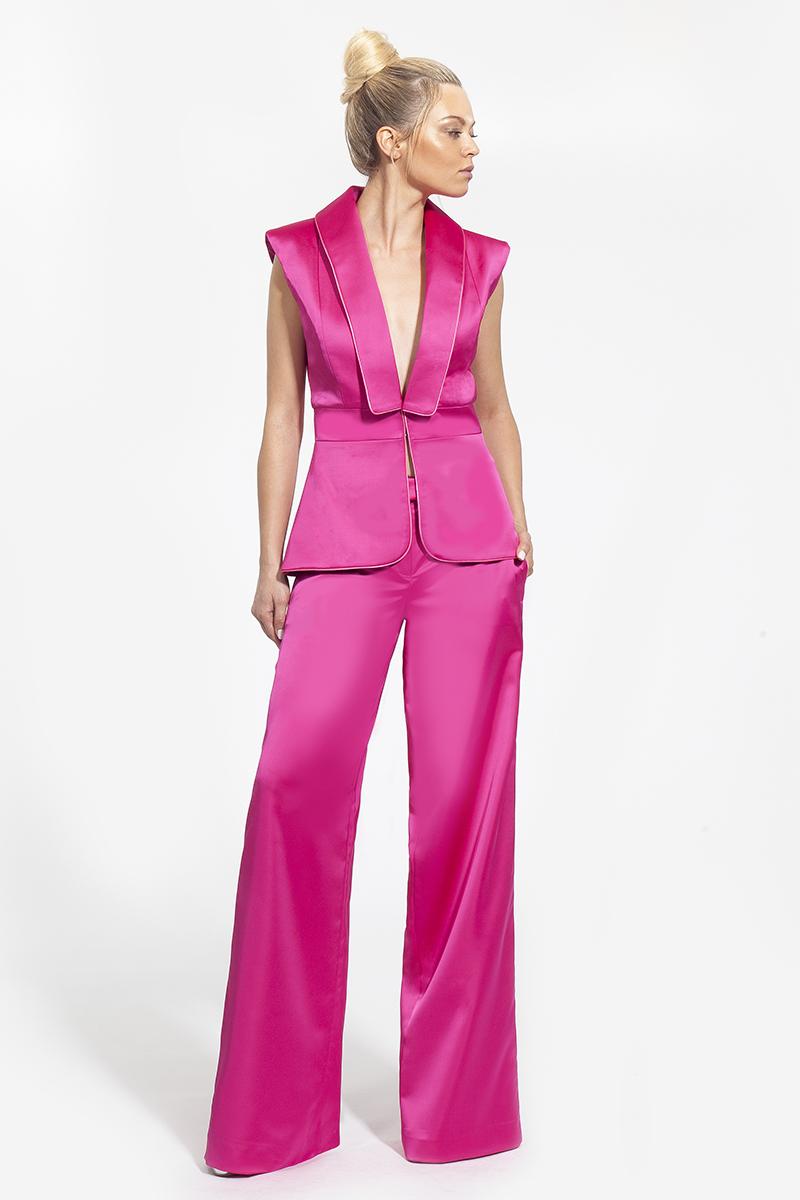 18- 3008 - κοστούμι μετάξι σε φούξια και μπλε χρώμα - 423 (1)