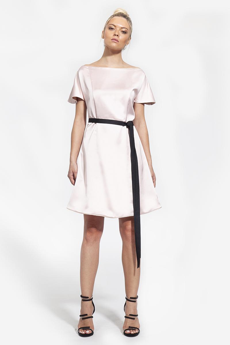 23 - 1003 - φόρεμα κοντό σε πούδρα και μπε χρώμα - 255 (1)
