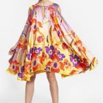29 -- 3004 - φόρεμα κοντό που μπορεί να φορεθεί και από την μέσα πλευρά φλοράλ και κίτρινο -- 333 (3)
